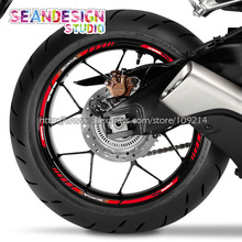 For Honda CBR RR CBR1000 600RR 650R 300R Motorcycle Wheel Sticker Decal Reflective Rim Bike Suitable for aprilia mv agusta yamaha kawasaki honda bmw 848 1098 gsxr wheel sticker decal reflective rim motorcycle suitable for 17 inch