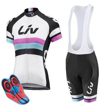 2018 set Camisa de Ciclismo mulher LIV MTB Roupas Bicicleta Verão Bicicleta Roupa Ciclismo Set Conjunto Maillot Ropa ciclismo