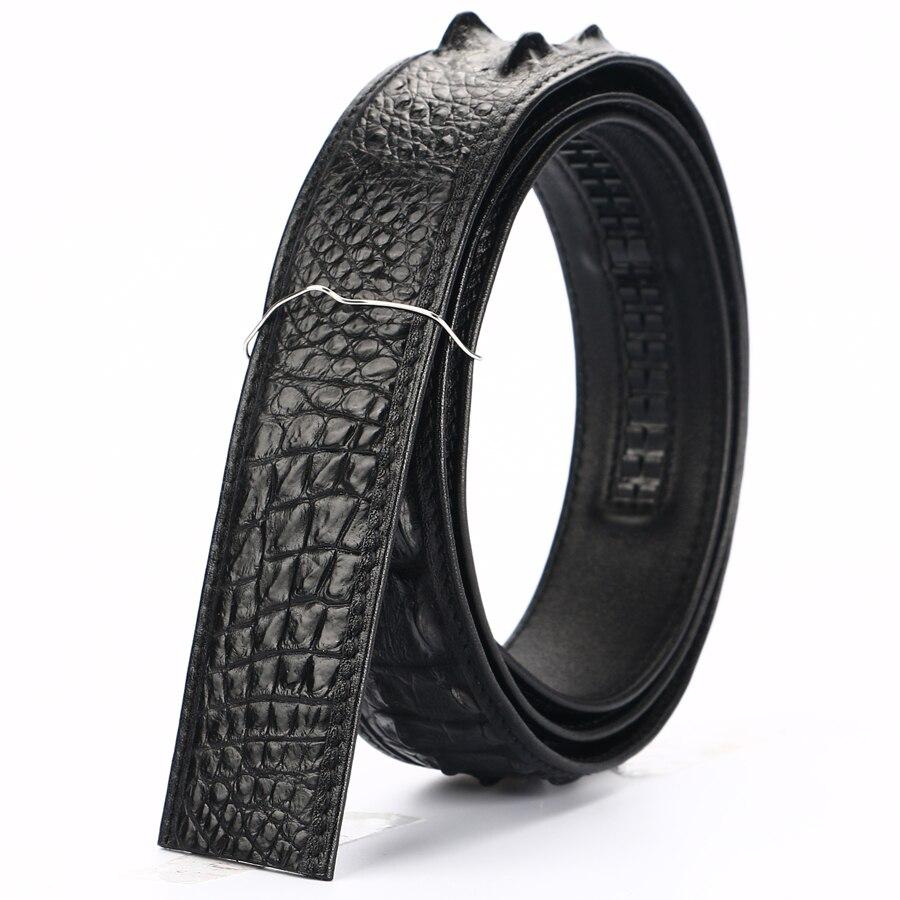 Men Belt Crocodile leather Belts Luxury Brand Designer Belts Black Brown High Quality Belt Strap Without