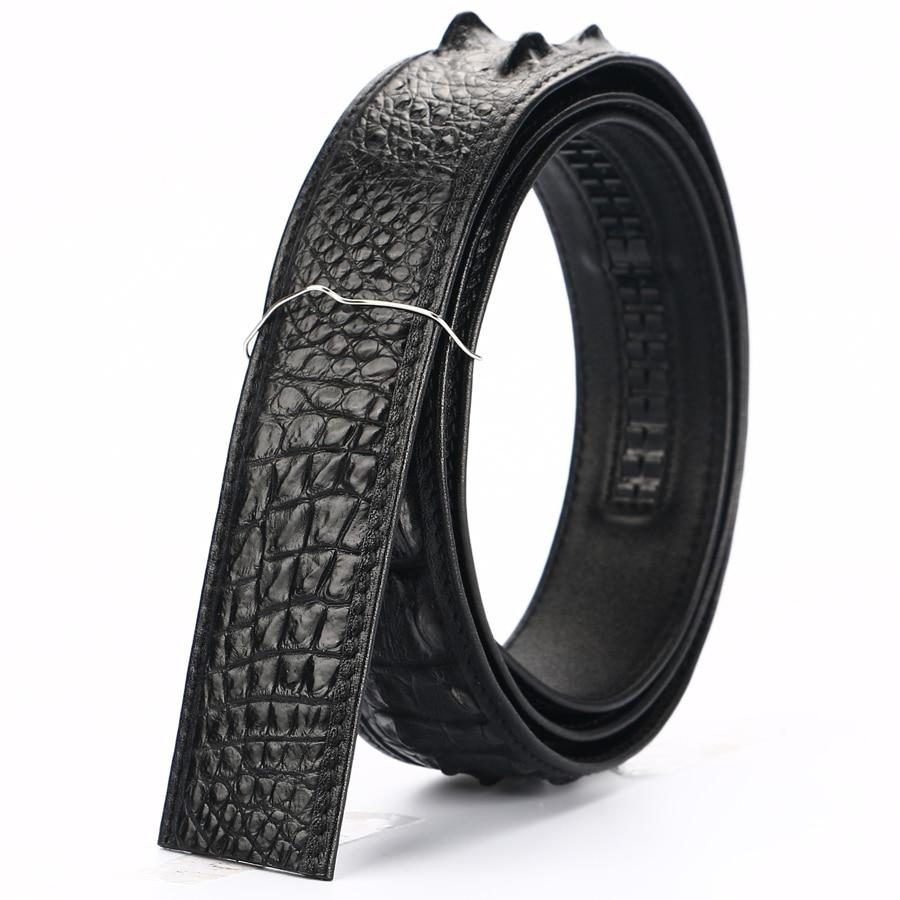 Men Belt Crocodile leather Belts Luxury Brand Designer Belts Black Brown High Quality Belt Strap Without Buckles Crocodile skin