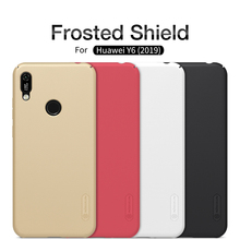 Huawei Y6 2019 Case With Gift NILLKIN Super Frosted Shield PC Plastic Hard Phone Cases For Fundas Back Covers