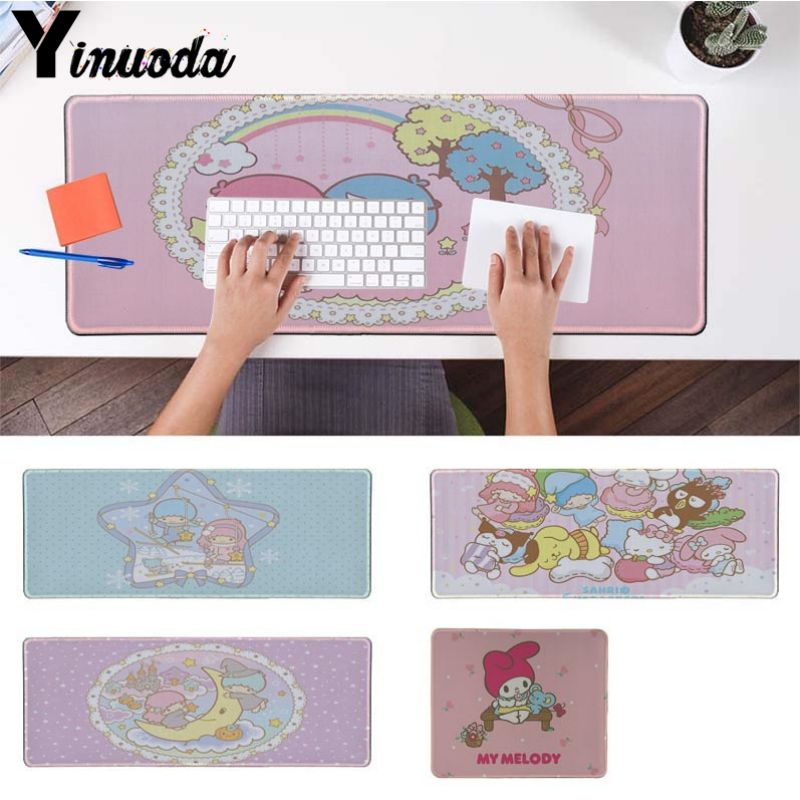 Yinuoda Vintage Cool Cute My Melody Little Twin Stars Laptop Computer Mousepad Size For 18x22cm 20x25cm 25x29cm 30x90cm 40x90cm