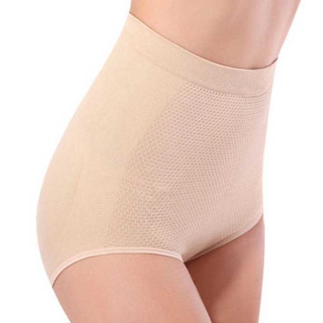 100pcs/lot High Waist Trainer Soft Modal Cotton Women Body Shaping Underwear Butt Panties Solid Seamless Brief Panties