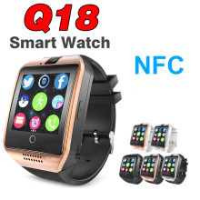 Q18 Смарт часы Bluetooth Динамик для Android IOS Apple IPhone вызова SmartWatch NFC Камера шагомер Samsung VS A1 Y1 Q50 x6 X7