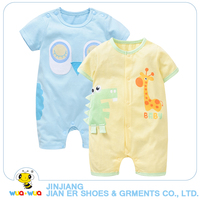 2pcs A Lot High Quality Baby Boy Clothes Short Sleeve Infant Romper Cotton Anminal Style Jumpsuit