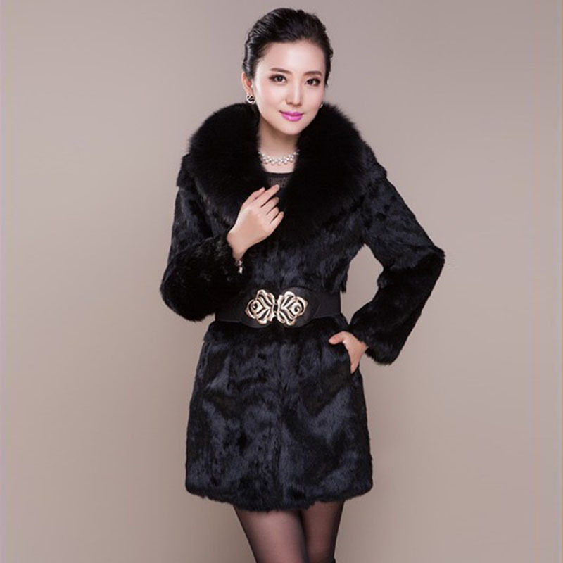 Popular Black Rabbit Fur Coat-Buy Cheap Black Rabbit Fur Coat lots ...