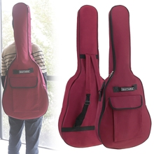 40/41 Inch Oxford Fabric Guitar Case Gig Bag Double Straps Padded 5mm Cotton Soft Waterproof Backpack Carry Case Cover цена и фото