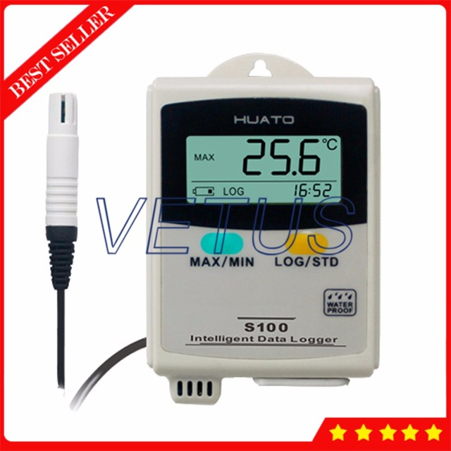 S100-EX External Sensor Data Logger Temperature Humidity with USB Datalogger Digital Thermo Hygrometer 43000 points Recorder