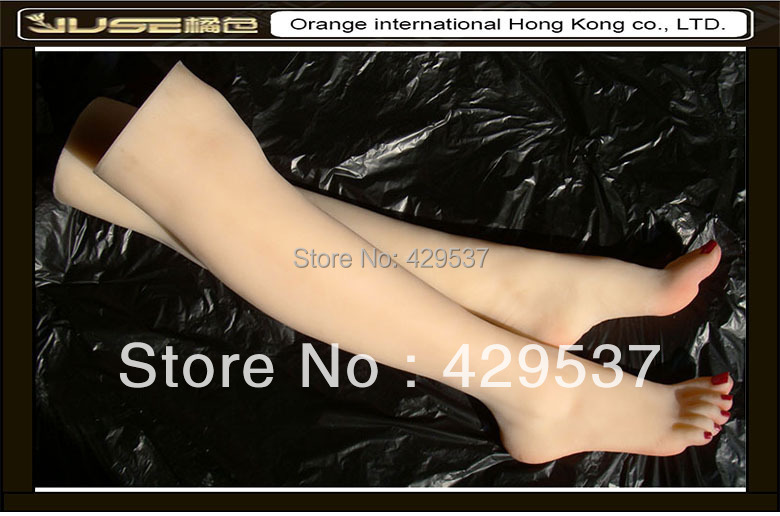 Online Fake Feet with Legs for Foot Fetishism,Sexy Girls Legs,Solid Silicone Female Feet with Legs,Sexy Feet for Display,FT-36LD image