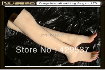 Online Fake Feet with Legs for Foot Fetishism,Sexy Girls Legs,Solid Silicone Female Feet with Legs,Sexy Feet for Display,FT-36LD