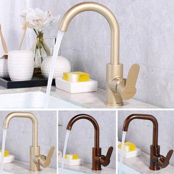 Bronze antique basin faucet champagne tap luxurious design