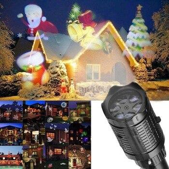 Светодиодный Рождество проектор огни фонарик с 12 моделей для Хэллоуина Карнавал День рождения ALI88