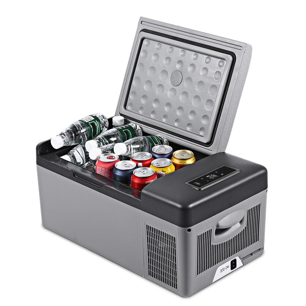 C15 15L AC DC Портативный холодильник для автомобиля дома Пикник Кемпинг вечерние светодиодный компрессор автомобильный холодильник авто кулер...