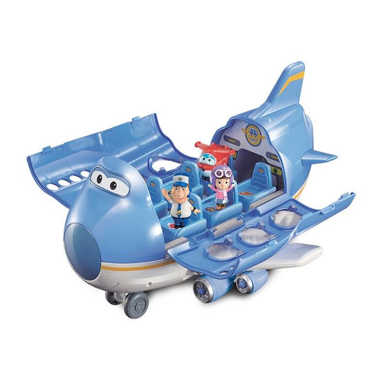 2018 haute qualité Super ailes avion scène Centre avec avions figurines Transformation jouets pour enfant Aniversario cadeau