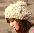 2017 Autumn and winter knitted beret fashion warm hat cap fashion hair accessories