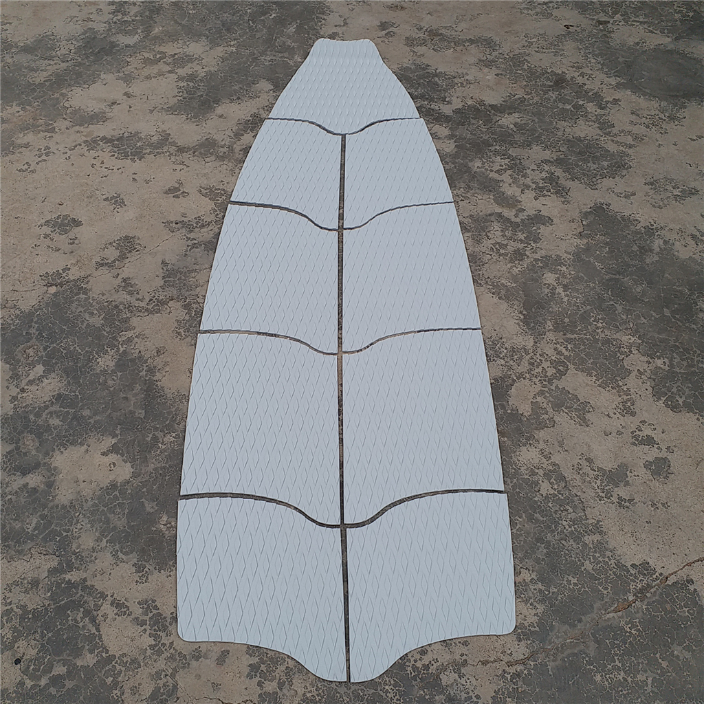 Surfboard Traction Pad Surfed Squared Anti-Slip EVA Foam Gray Tone Surfing Accessories