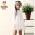 PATEMO Niñas Vestido de Encaje Blanco Completo Mangas Hasta La Rodilla Una Línea de Dama de Chicas Vestidos Niños Niñas Primavera/Verano de Ropa de Moda
