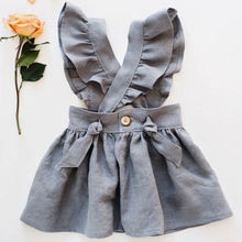 US Kid Baby Girl Cross Strap Dress Party Dress
