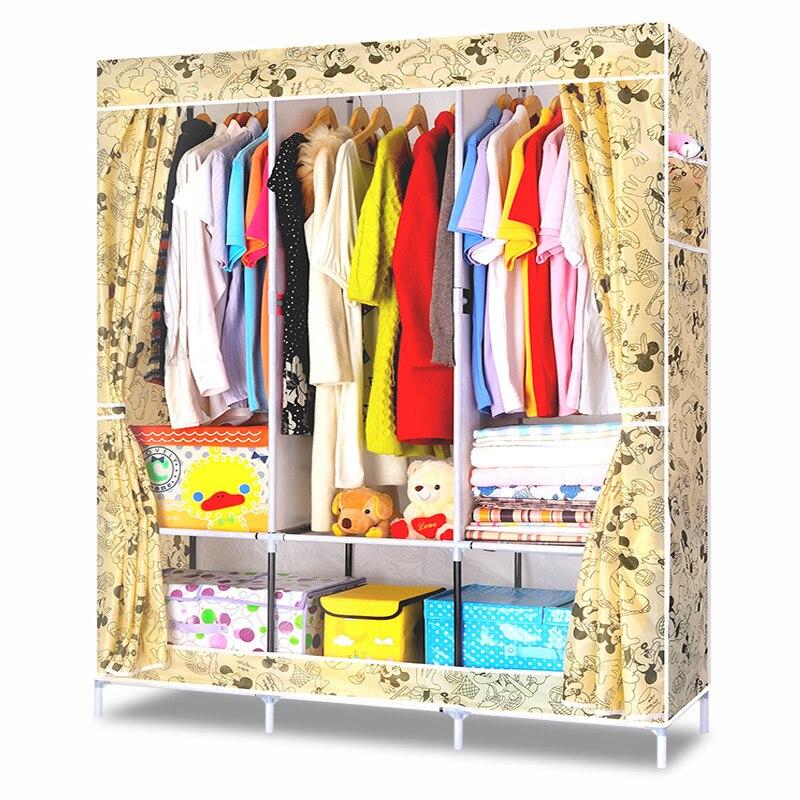 Diy ropa sencilla armario combinación no tejido tela de gran ...