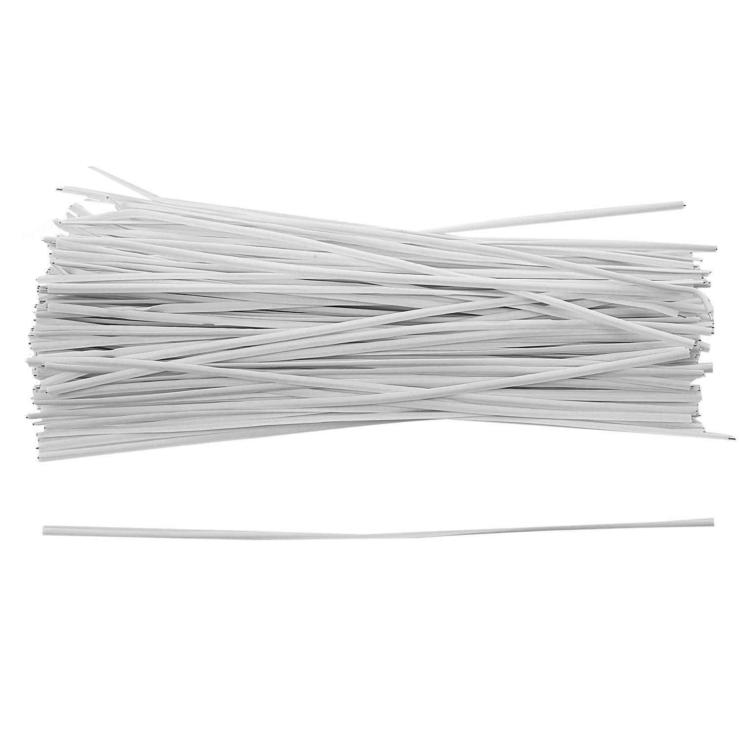 130pcs Cable Organizer Binding Packaging Wire Twist Ties White 150x2.2mm Dropshipping