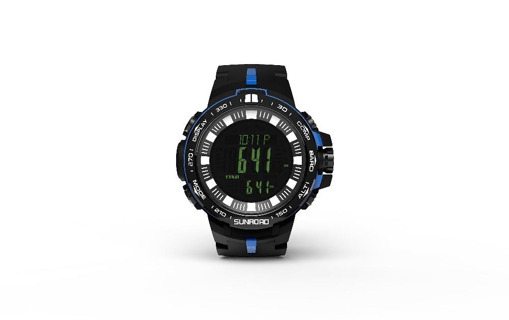 2017 New Arrival Fishing Watch Men Outdoor Barometer Compass Altimeter Temperater Watch FR861 5ATM Waterproof Men