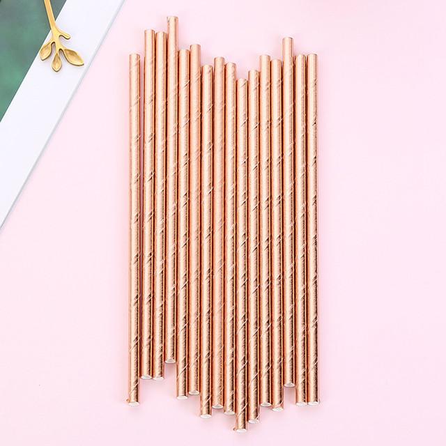 Disposable Drinking Straws 25 Pcs Set