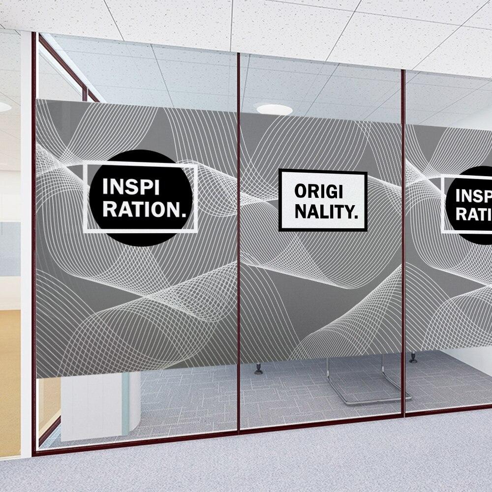 Creative électrostatique autocollants givré autocollants bureau décoratif en verre film peut être personnalisé taille LOGO transparent verre stic