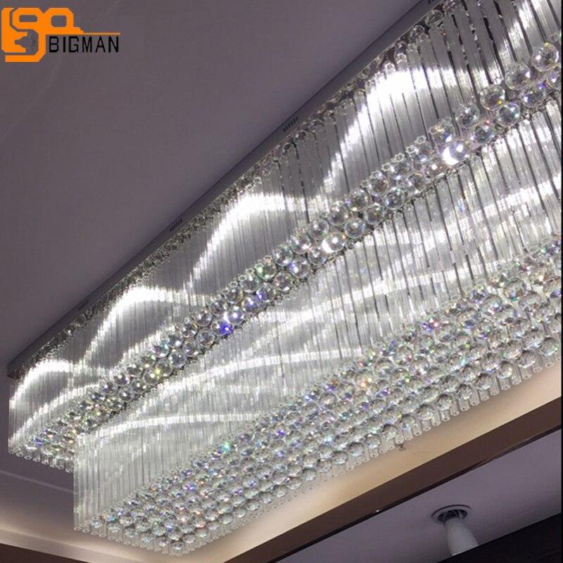 Lebensdauer bis zu 50.000 Stunden LED Moderne Kristall Kronleuchter Edelstahl Pendelleuchte Deckenleuchte Schlafzimmer L/üster Kristall LED Kronleuchter