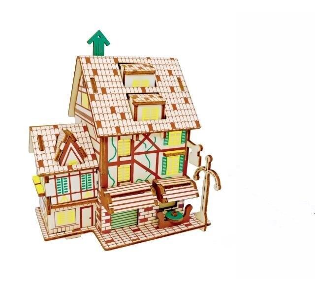 Моделирование Кофе Дом Модель 3d трехмерные деревянные головоломки игрушки для детей Diy ручной работы деревянные пазлы