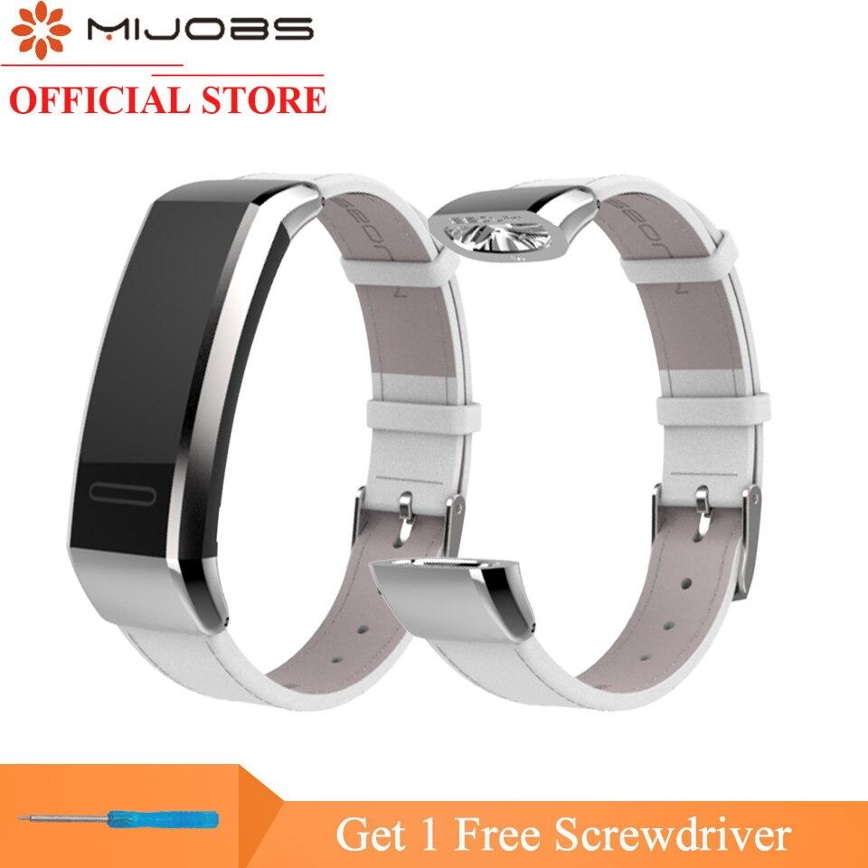 Mijobs En Cuir Dragonne pour Huawei Bande 2 Pro B29 B19 Smart Bracelet Fitness Tracker Smart De Remplacement Bracelet Bracelet