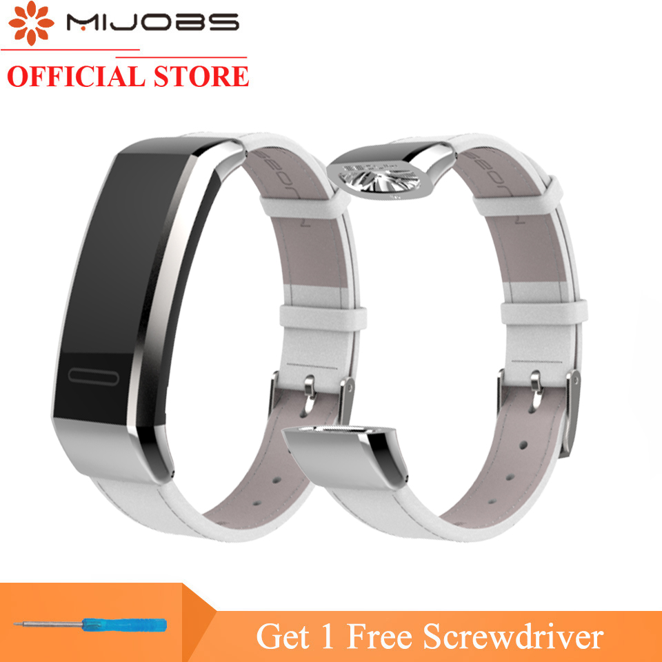 Mijobs Leather Wrist Strap For Huawei Band 2 Pro B29 B19 Smart Bracelet Fitness Tracker Smart Watch Band Replacement Wristband