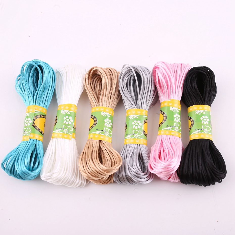 Bite Bites 20M/Lot Satin Cords 1mm DIY String Nylon Rope Accessary&Findings Baby Silicone Teething Bead Necklace Baby Teether