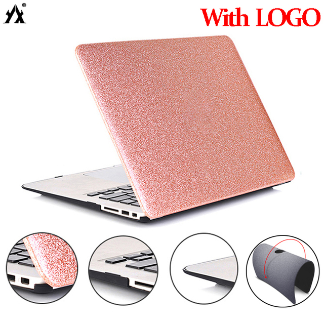 Shine Glitter Laptop Case For Macbook 12 inch Air 13 A1369 A1466 A1932,Air 11 A1370 Pro Retina 13 15,Pro 13 15 touch bar Shell