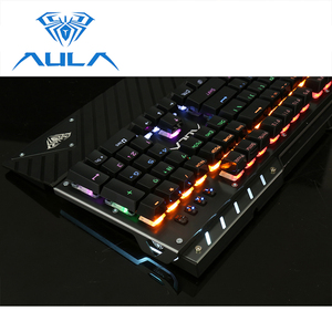 Image 2 - AULA Mechanical Gaming Keyboard RGB Backlit Wired Blue Switch 104 keys Anti ghosting Ergonomic Wrist Rest Gamer Keyboard #2030