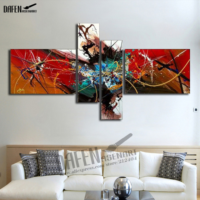 100 colorful hand painted canvas abstract oil painting multi panel canvas wall art large home