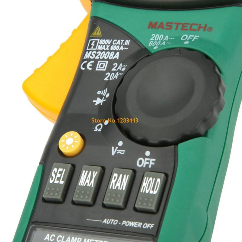Mastech ms2008a digital braçadeira medidores amperímetro voltímetro