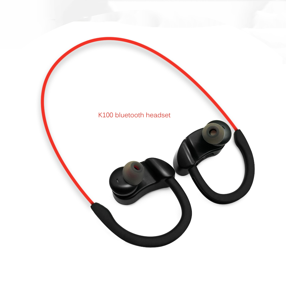 K100 wireless Bluetooth headsets Ear hook Waterproof Bluetooth headsets Sports Running earphones with mic Earbuds for iphone in Bluetooth Earphones Headphones from Consumer Electronics