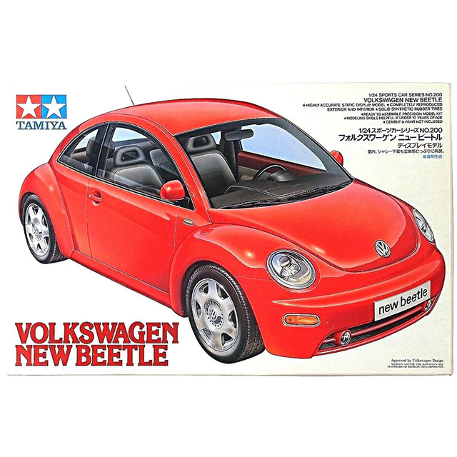 Vw New Beetle 1 24 Plastic Model Kit Tamiya 24200 Model Hobby Lastic