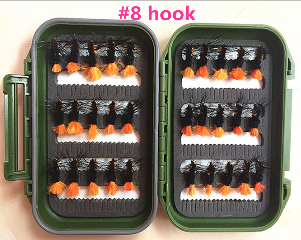 40Pcs Tube Fly Flies Orange Salmon And Sea Trout Fly Fishing Lures---8