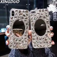 XINGDUO case for Samsung galaxy S10 Luxury diamond mirror cover Lite Plus S8 S9 Note 8 9 S7 Edge