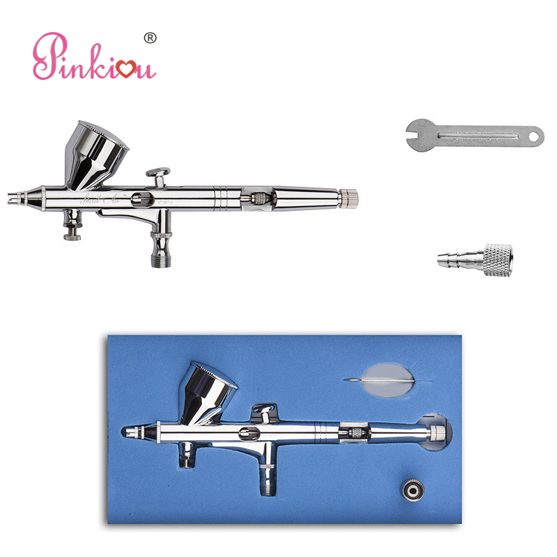 Hot Sale Pinkiou Dual Action Airbrush Kit 02mm Needle Airbrush Nail