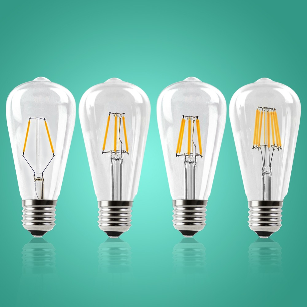 IMINOVO 20 Pack LED Filament Bulb Light E27 ST64 Vintage LED Edison Bulbs Retro Glass Dimmable Lamp 2W 4W 6W 8W AC110-220V Home e27 led 8w white warm white cob led filament retro edison led bulbs 85 265v