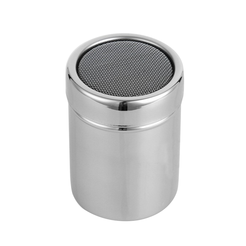 HOT Stainless Steel Chocolate Shaker Cocoa Flour Icing Sugar Powder Coffee Sifter Lid Shaker Cooking Tools Coffee Accessories(China)