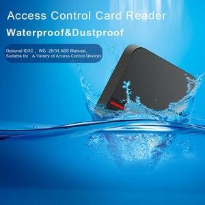 Image 2 - קורא RFID ארוך טווח 125 KHZ/13.56 MHZ בקרת גישה קורא קרבה כרטיס Wiegand 26/34 IP68 עמיד למים קטן IC כרטיס קורא