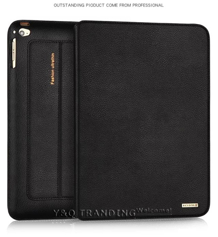 Ultrathin Cowhide Genuine Leather Case for Apple iPad Real Leather Business Stand Smart Cover for iPad  (1)
