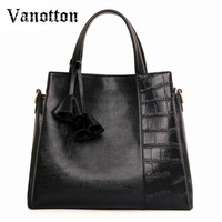 Big Capacity Luxury Handbags Women Bags Designer Three Zone Tote Bag Black Leather Women Crossbody Bags