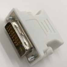 10 Pieces DVI to VGA Adapter DVI 24+1/24+5 Male to VGA Female Converter White Connector