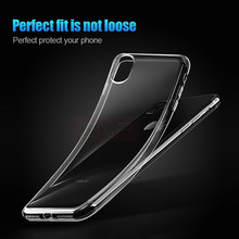 Silicone Transparent TPU Case For iPhone X