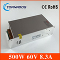 Источник питания постоянного тока 60V 8.3A 500w светодиодный трансформатор 220V AC к DC 60V SMPS для гравировального станка  лазерной резки