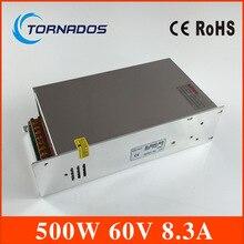 DC Power Supply 60V 8.3A 500w Led Driver Transformer 220V AC to DC 60V SMPS for Engraving machine, laser cutting machine
